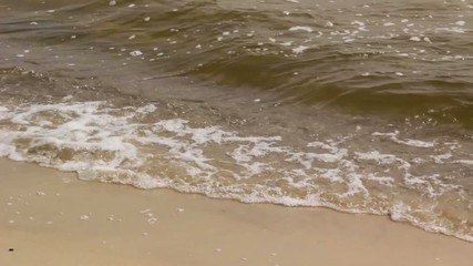 waves on the sand beach
