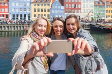Group of women taking a selfie in Copenhagen