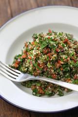 tabbouleh, tabouli, parsley salad