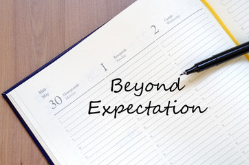 Beyong expectation concept