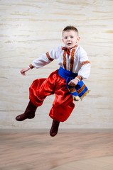 Talented child performing a traditional dance