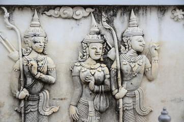 statue Buddha temple Thailand art stone old
