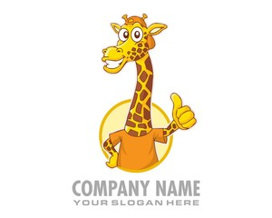 long neck giraffe character image vector