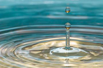 Water drop in detail