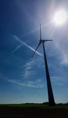 wind generators turbines on field
