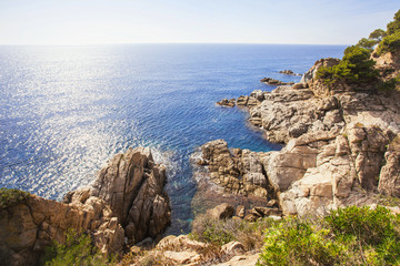 Beautiful landscape on Costa brava, Spain