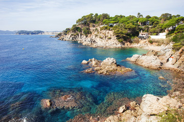 Seafront of LLoret de Mar, Spain