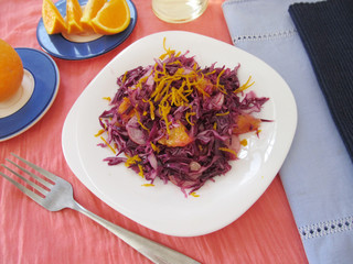 Cabbage salad with oranges.