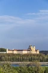 Convent Melk at river Danube in Lower Austria