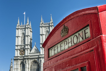 Telephone and Westminster Abbey