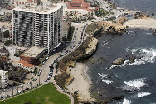 Aerial view of La Lolla Shores, California, USA.