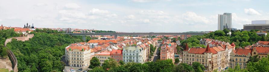 Nusle bridge (Nuselsky most) panorama, Prague.