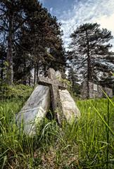 vecchio cimitero abbandonato