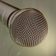 Microphone taken closeup.