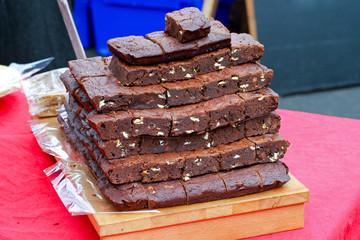 Brownies pile