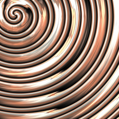 Metal spiral generated texture