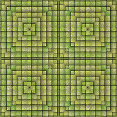 Square tiles generated texture
