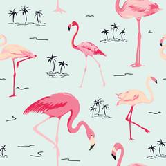 Fototapeta flamingi