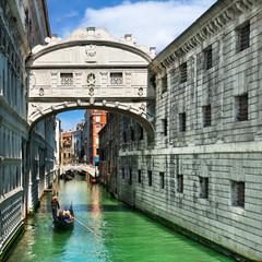 The bridge of sighs in Venice