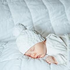 little baby sleeping sweetly