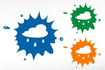Rain cloud - color blob