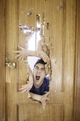 Man shouting attacked