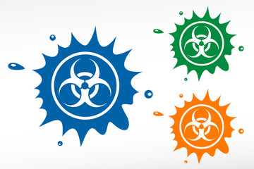 Biohazard signs. Color blob