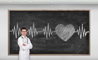 blackboard with drawing pulse