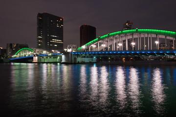 勝鬨橋のライトアップ