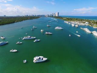 Aerial Miami Haulover Park