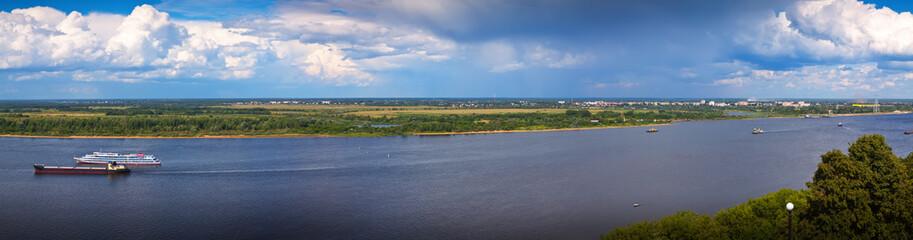 Volga river in Nizhny Novgorod