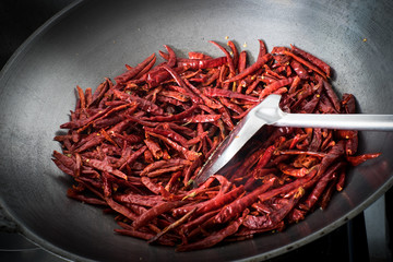 Chilli dry in the pan