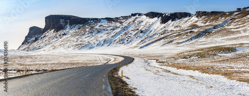 Road Winter Mountain Iceland