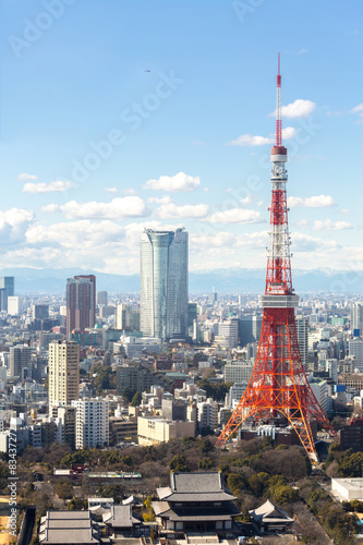 Poster Tokyo Tower cityscape