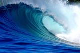 Blue ocean surfing wave - 83437879
