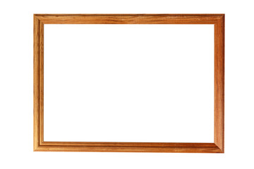 Isolated blank picture frame