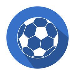 Icono redondo futbol con sombra azul
