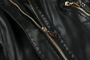 Black leather jacket background