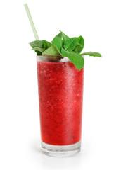 Cranberry fruit drink with mint. Juice
