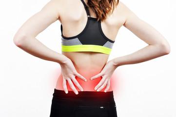Girl having a backache