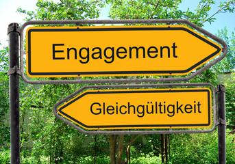 Strassenschild 40 - Engagement