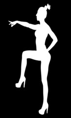 Contour women, alpha channel