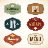 Fototapety Vintage labels design. Logo set for restaurant and coffee house