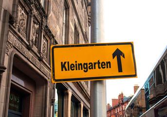 Strassenschild 44 - Kleingarten