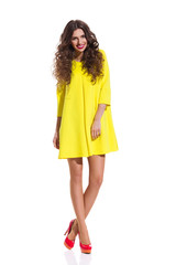 Summer Yellow Mini Dress