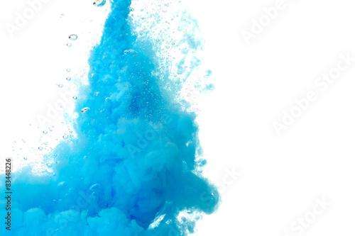 Poster Water planten Abstract paint splash
