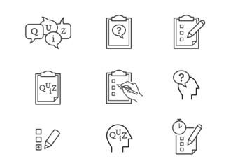 Quiz icons vector