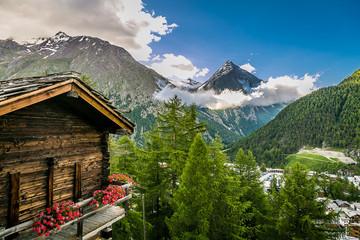 Ausblick auf die Bergwelt
