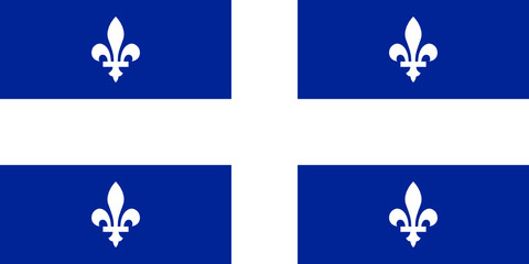 The flag of Quebec. Fleurdelisé. 1:2