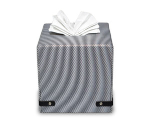 Modern tissue boxed isolate on white with clipping path